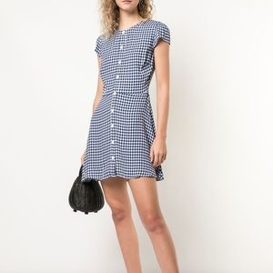 Reformation Vikki Gingham Plaid Mini Dress NWT